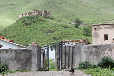 gate of a nunnery in Tibet